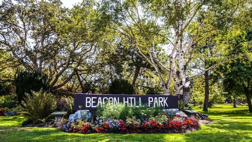 Park sign for Beacon Hill Park
