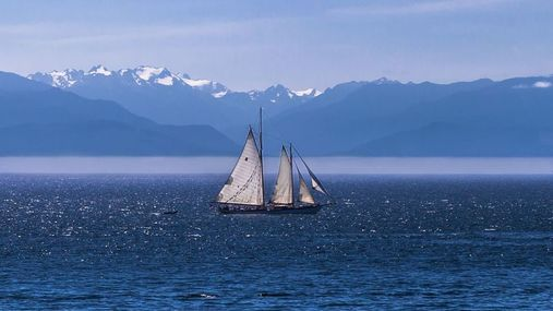 Sailboat on the Georgia straits